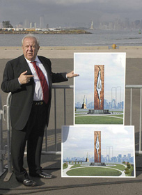 September 16, 2005 - Groundbreaking Ceremony for 'To the Struggle Against World Terrorism, A Monument Created by Zurab Tsereteli as a gift to the American people'