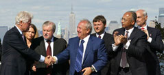 Zurab Tsereteli and President Bill Clinton at the Dedication Ceremony