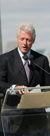 President Bill Clinton at the Dedication Ceremony